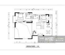 西安创艺装饰别墅平面图设计