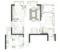 合肥柏悦公馆120平二居室平面图