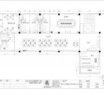 佛棉纺织厂450平米办公室装修平面图欣赏