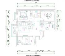 皇姑中海寰宇天下116平米三居室平面图