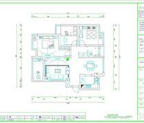 绿地新都会108平米三居室平面图