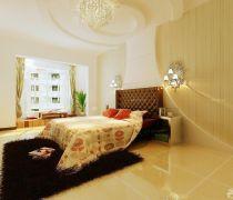 120平米样板房卧室黑色毛毛地毯设计图片