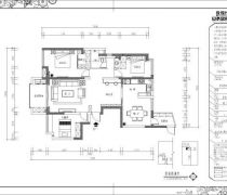 华帝公馆130平米三居室平面图