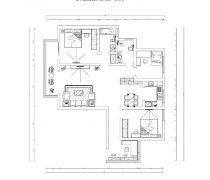 凯田花园142平米三居室平面图