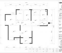 华润中央公馆108平米三居室平面图