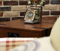 小方几电话几仿古砖墙面设计图片