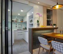 最新厨房钢化玻璃隔断图片大全