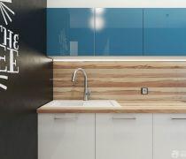 一室一厅厨房简约风格厨柜装修效果图