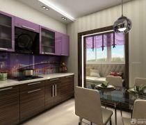 一室一厅简约风格厨柜装修效果图片大全