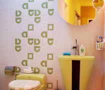 温馨十分的20-30平米小户型现代简约风格卫生间洗手间装修图