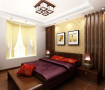 50-80小户型二室一厅中式装修图片大全