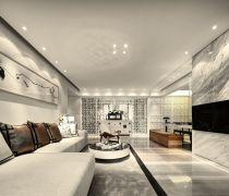 不吊顶的客厅新中式家具设计效果图欣赏