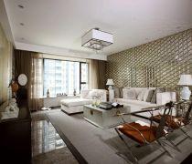 不吊顶的客厅现代中式家具摆放图片欣赏