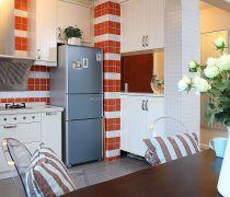 开放式厨房墙砖贴图装修图片