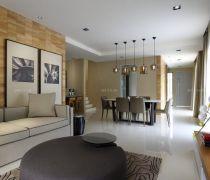 跃层式住宅客厅风水画装修案例