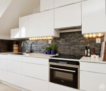 80平米一室一厅简约风格厨房整体厨柜装修图片