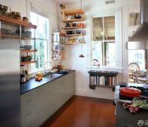 厨房用品实木置物架装修图欣赏