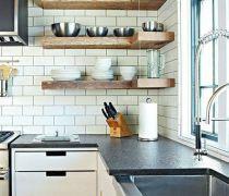 厨房用品实木置物架装修效果图