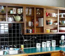 厨房用品置物架实木置物架装修图