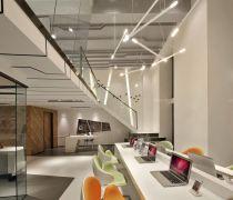 2020高端办公区域办公桌隔断装修效果图片