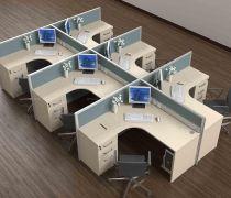 办公区域办公桌隔断装修效果图片大全