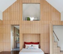 男生卧室单人折叠床装修图片