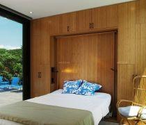 卧室单人折叠床装饰图片大全