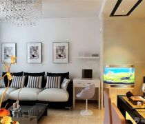 家装客厅带书房装饰效果图片