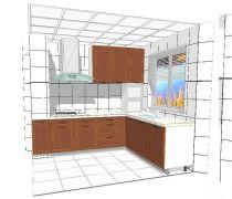 L型厨房水泥橱柜设计图