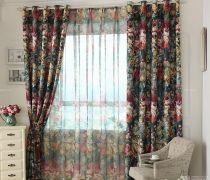 贵气欧式大花图案窗帘图片欣赏