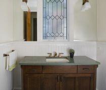 最新仿古橡木浴室柜