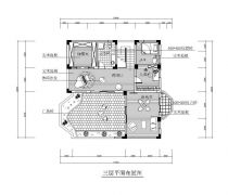 第三层别墅cad平面图