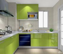 家庭用绿色橱柜设计图