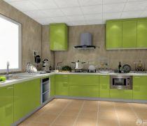 绿色烤漆橱柜设计图