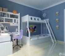 儿童房家具高低床设计图片