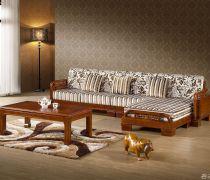 顺等实木家具多人沙发效果图
