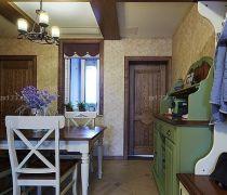 三室两厅房屋实木门安装效果图