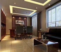 总经理烤漆玻璃茶几办公室家具装修效果图