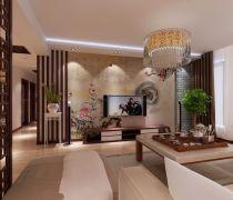 心中谁风格房屋室内装修设计图