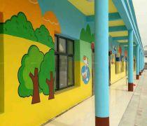 幼儿园外墙涂料墙体彩绘图片