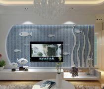 3d电视背景墙壁纸设计效果图