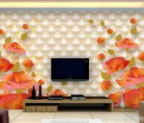 3d电视背景墙壁纸装修设计图片