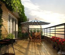 家装半封闭阳台花园不锈钢护栏设计图