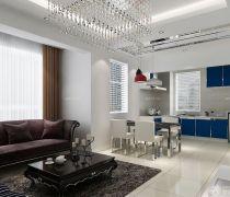 70-80平方小户型开放式厨房装修设计图