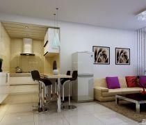 70-80平米开放式厨房房屋装修设计图