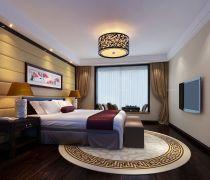 80-90平米房子卧室中式吊灯装修图片