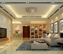 最新80-90平方米客厅玄关酒柜隔断设计装修效果图