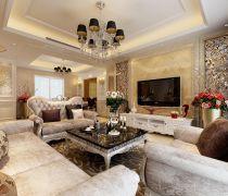 80-90平米豪华客厅装修效果图片