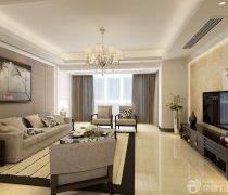 最新现代80-90平方小户型大客厅装修样板间