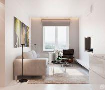现代风格110-120平米室内客厅天花板装修图片